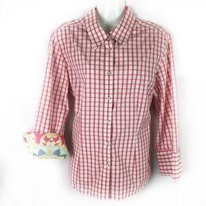 J MCLAUGHLIN | contrast cuff shirt sz 10
